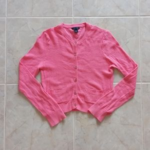 Cropped Pink Tommy Hilfiger Cardigan